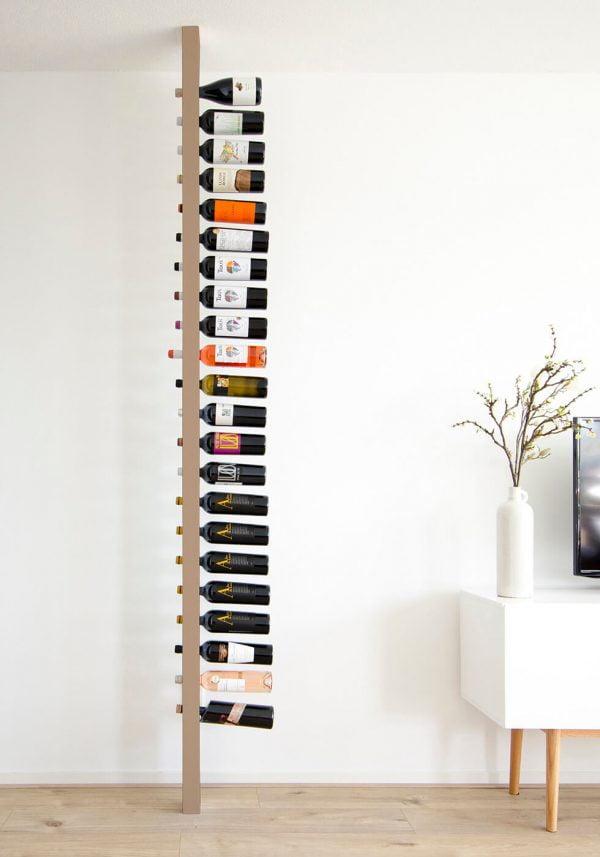 Wijnpaal wijnrek clean zijaanzicht volledig
