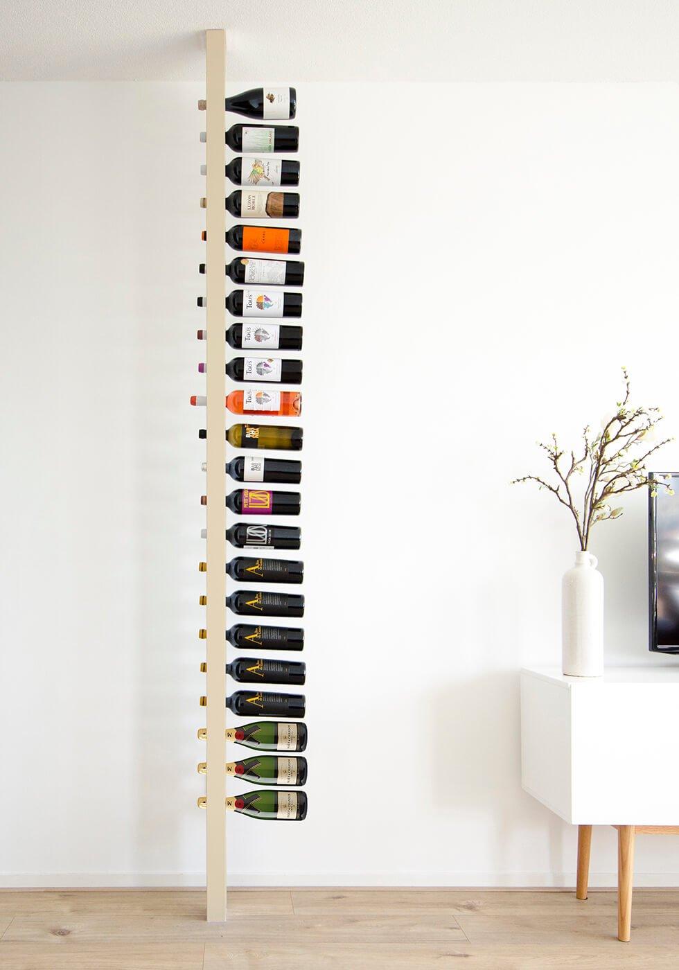 Wijnpaal wijnrek champagne zijaanzicht