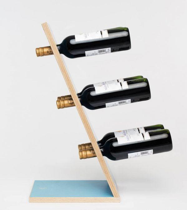 Compact Six Blue Wijnrek Zijaanzicht