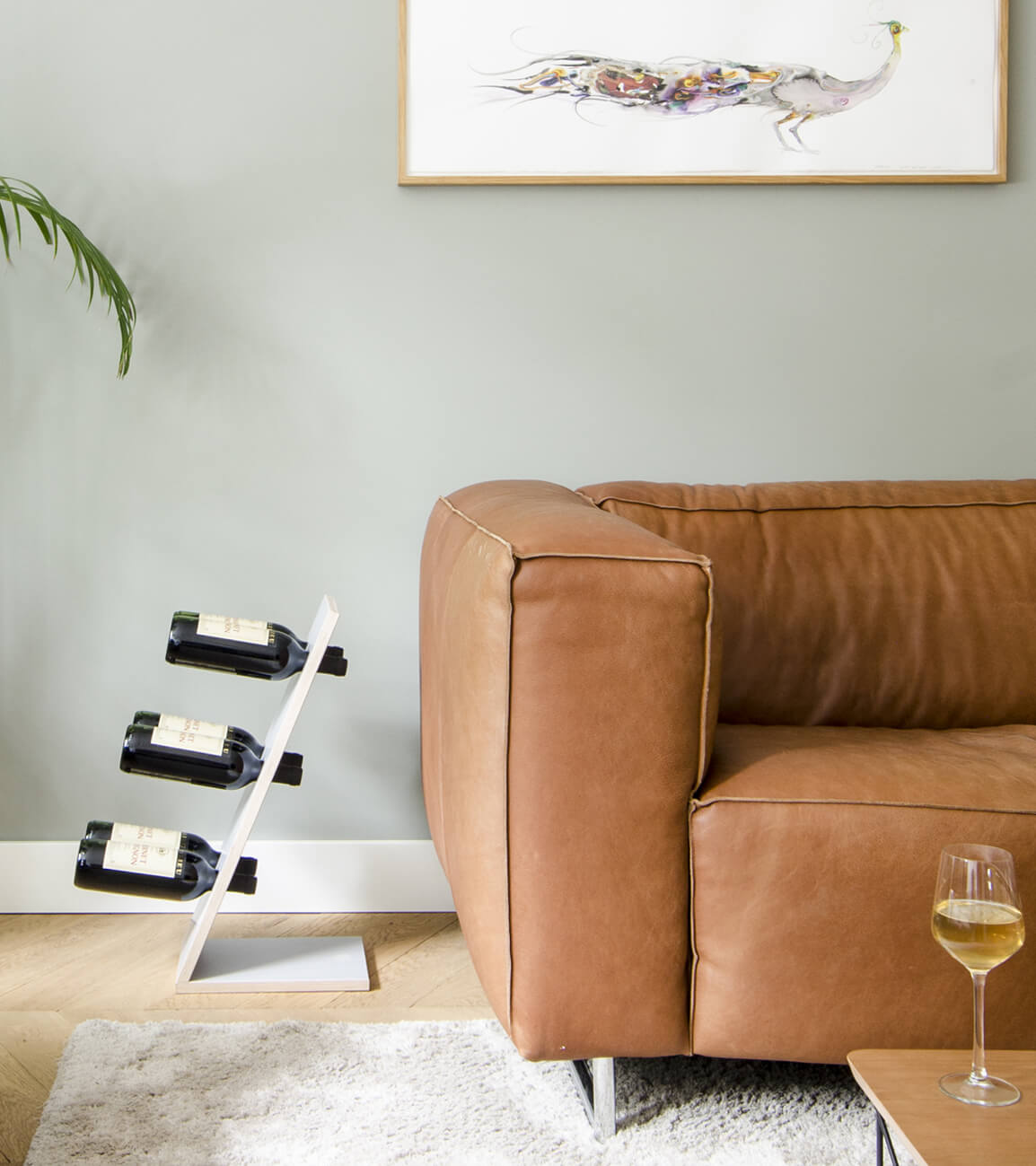 Compact Six Grey Wijnrek Zij aanzicht woonkamer