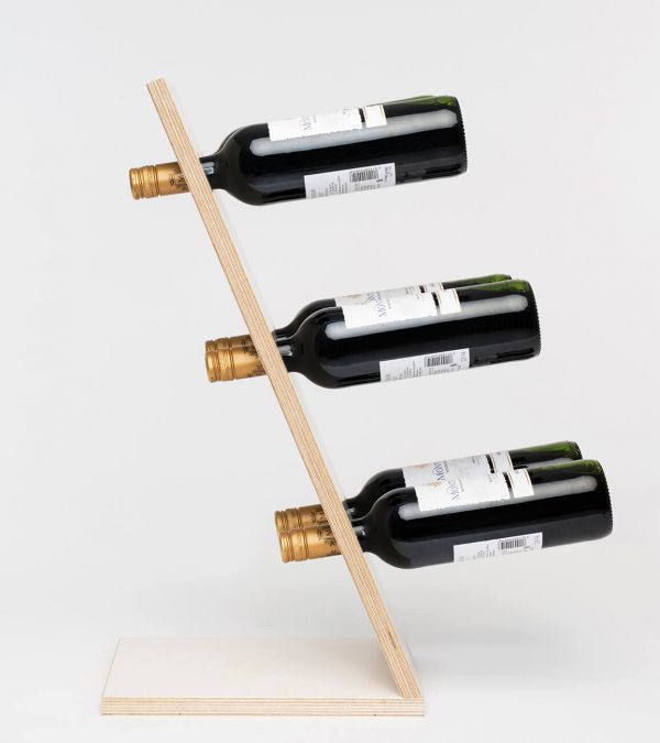Compact Six White Wijnrek Zij aanzicht