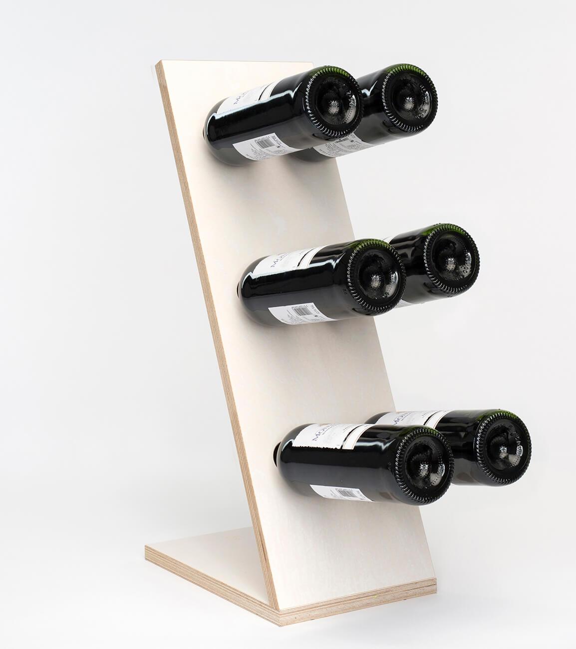 Compact Six White Wijnrek Zij/Voor aanzicht