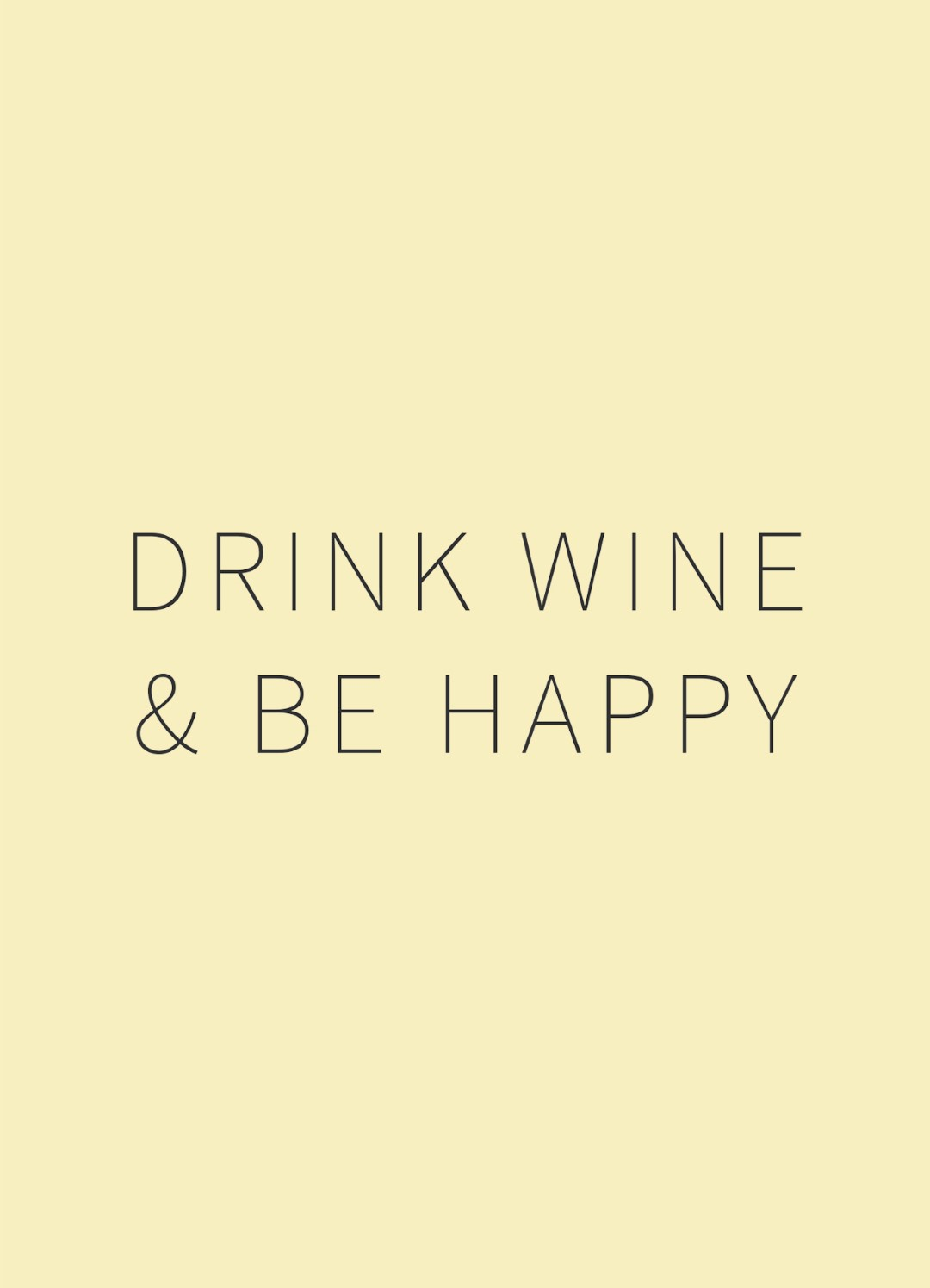 Happy Wine Card drink wine & be happy