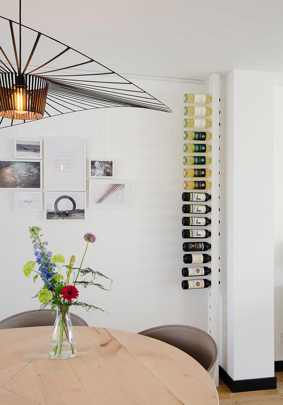 Wijnpaal wijnrek classic zijaanzicht woonkamer