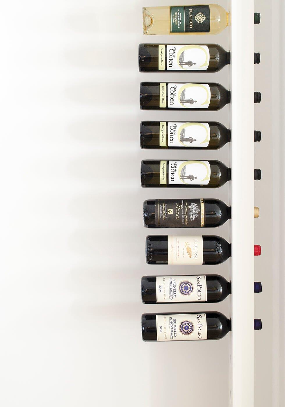 Wijnpaal wijnrek classic zijaanzicht closeup